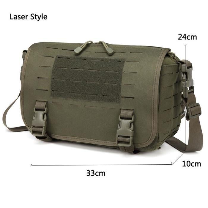 Laser Army Green -Laser Molle – sacs tactiques militaires, sac à dos d'ordinateur, messager, ceinture à bandoulière, Camping, spo