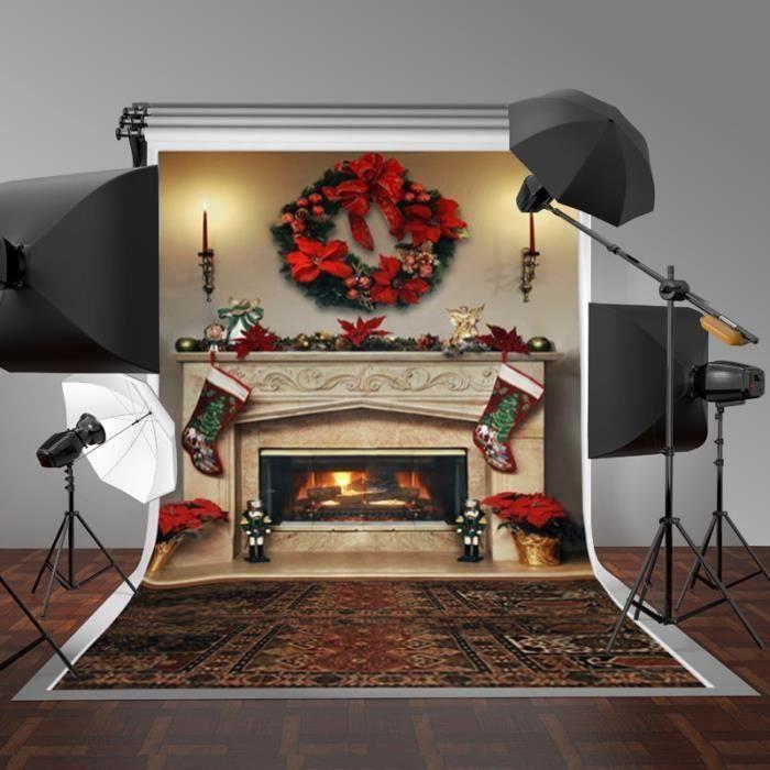 KYY Toile de fond studio photo noel tissu 2.1x1.5m Photographie Studio Photo placard