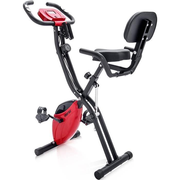 Vélo d'exercice pliable magnétique Vélo d'intérieur d'exercice aérobie avec ceinture d'extension