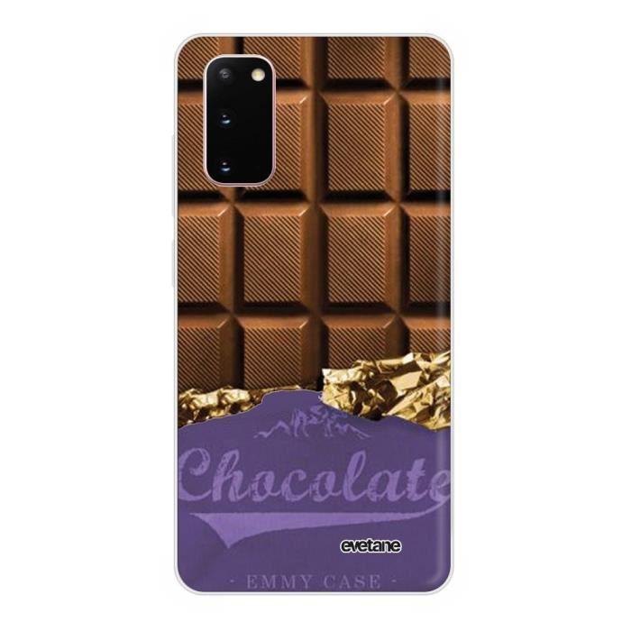 Coque Samsung Galaxy S20 360 intégrale transparente Chocolat Ecriture Tendance Design Evetane.
