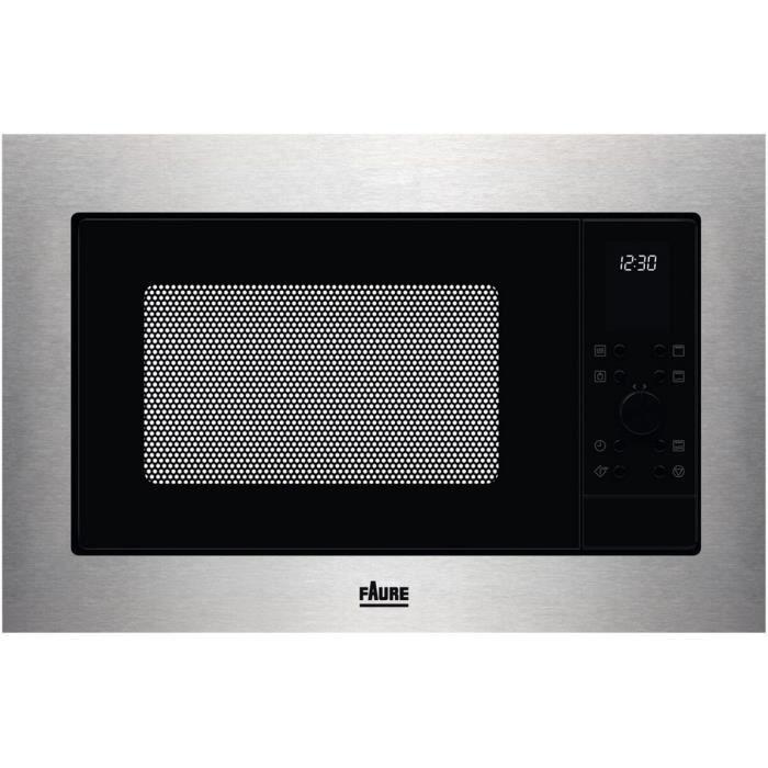 faure - micro-ondes gril encastrable 25l 900w inox - fmsn7dx