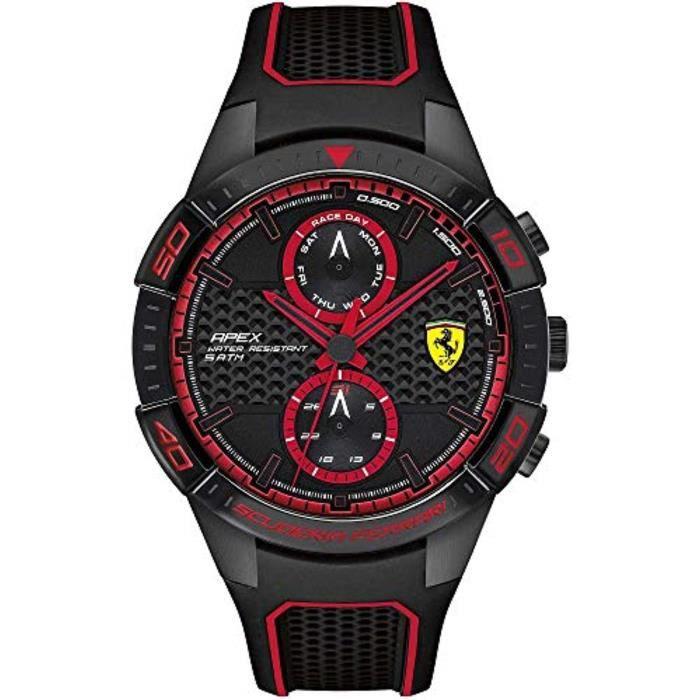 Montre Bracelet FERRARI HKW6G Ferrari cadran multi Montre Homme Quartz avec bracelet en caoutchouc 830634