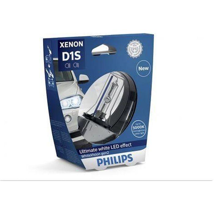 Ampoule D1S Philips 85415WHV2 xénon whitevision Gen2, sous blister