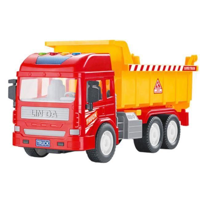 Luna camion à benne junior 28 cm rouge/orange