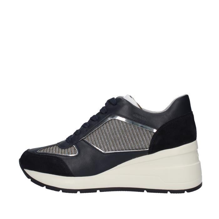 Geox D028LA0EW85 chaussures de tennis Avec coin Femme BLEU MARINE