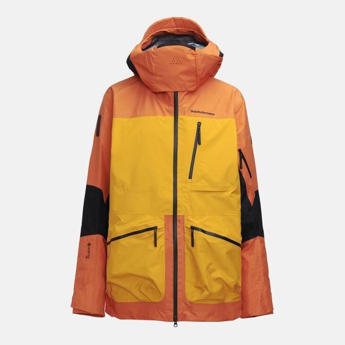 Veste De Ski/snow Peak Performance M Vertical Pro Jacket Orange Altitude Homme
