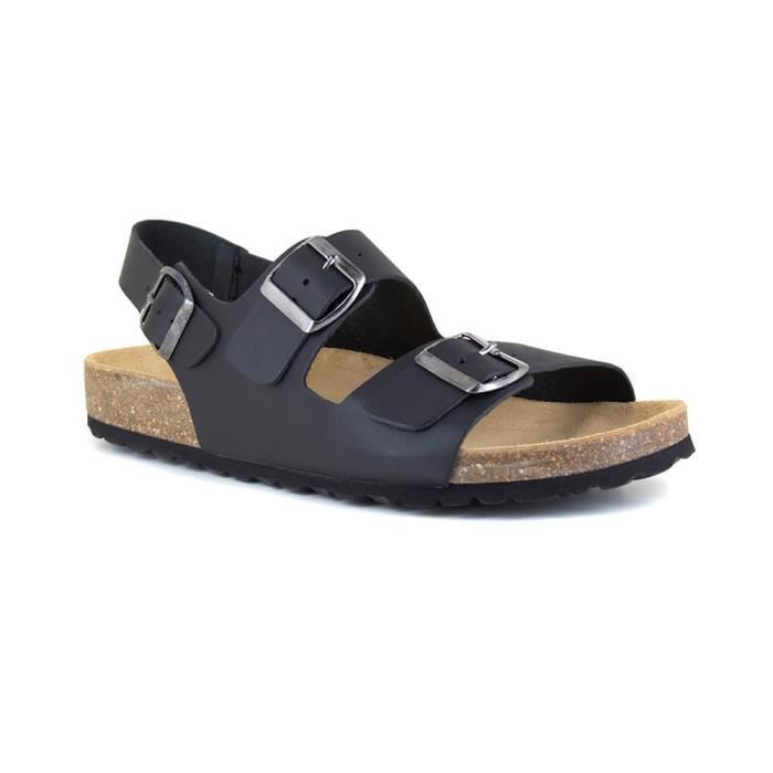 Sandale Homme J.Bradrford Cuir Noir JB-LINT