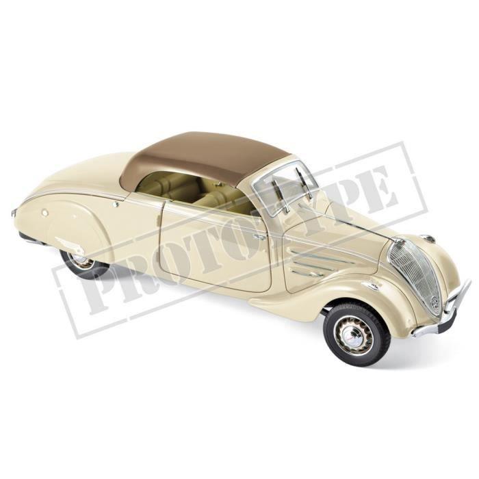 Véhicule Miniature assemble - Peugeot 402 Eclipse Beige et Caramel 1937 1-18 Norev