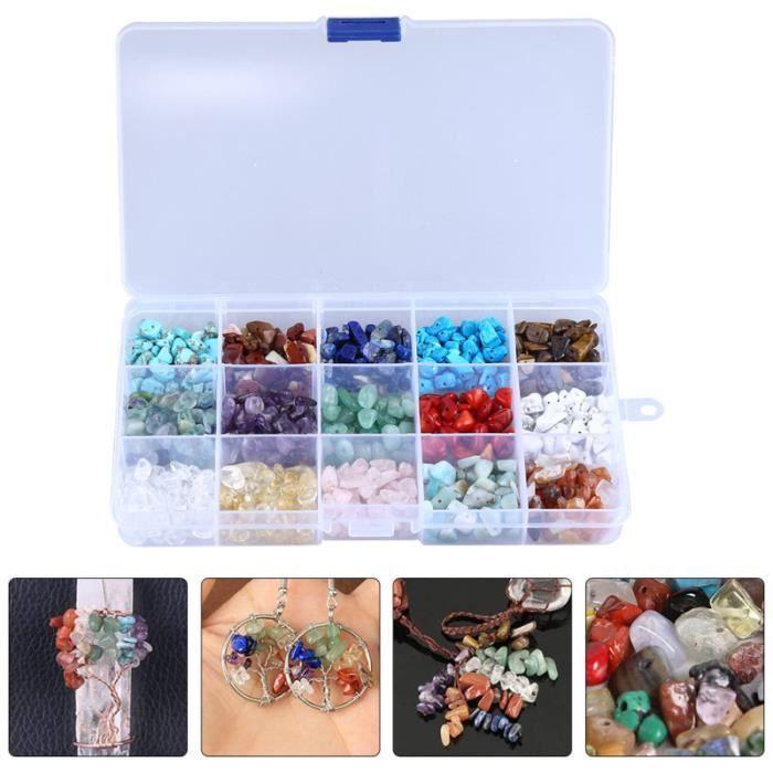 1 boîte de perles en pierre naturelle bricolage perle en vrac pour faire un bracelet collier BRACELET - GOURMETTE - JONC