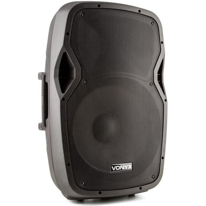 Vonyx AP1500ABT MP3 Enceinte active Hi-End batterie 800W 15- Bluetooth MIC-IN SD