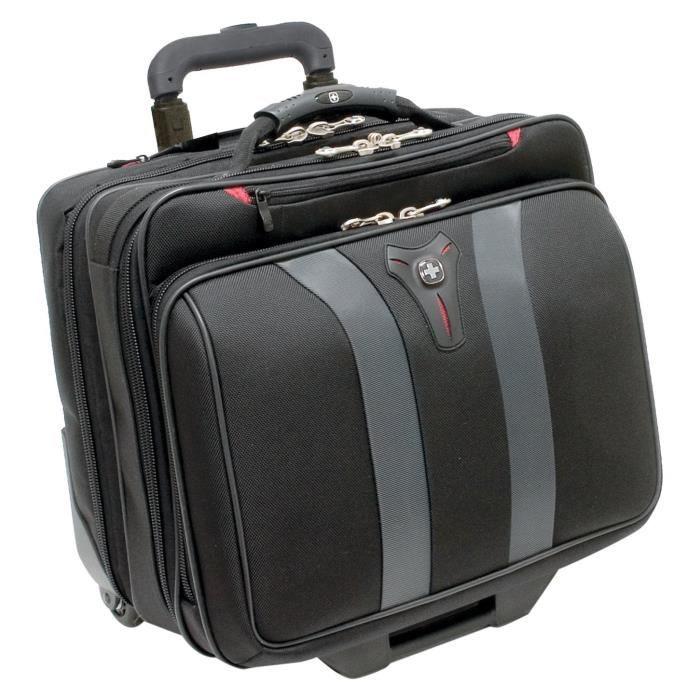 Wenger 600659 GRANADA 17- à roues - Compartiment pour ordinateur portable rembourré avec compartiment - noir la nuit / gris {24