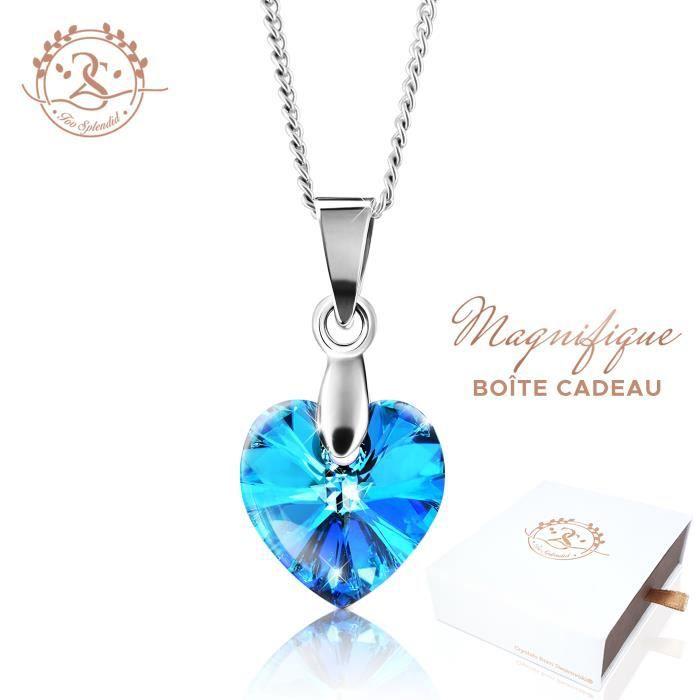 2SPLENDID® Collier Femme Cristal Swarovski Cœur ba