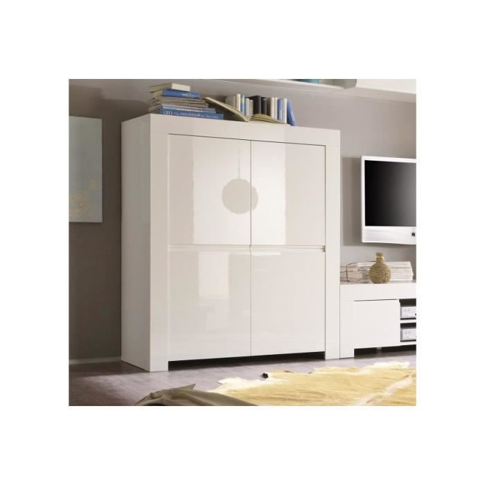 vaisselier carr laqu panamera couleur blanc achat vente vitrine argentier vaisselier. Black Bedroom Furniture Sets. Home Design Ideas