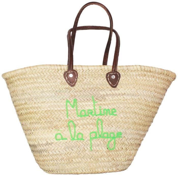 martine la plage achat vente panier sac de plage 2009983883721 cdiscount. Black Bedroom Furniture Sets. Home Design Ideas