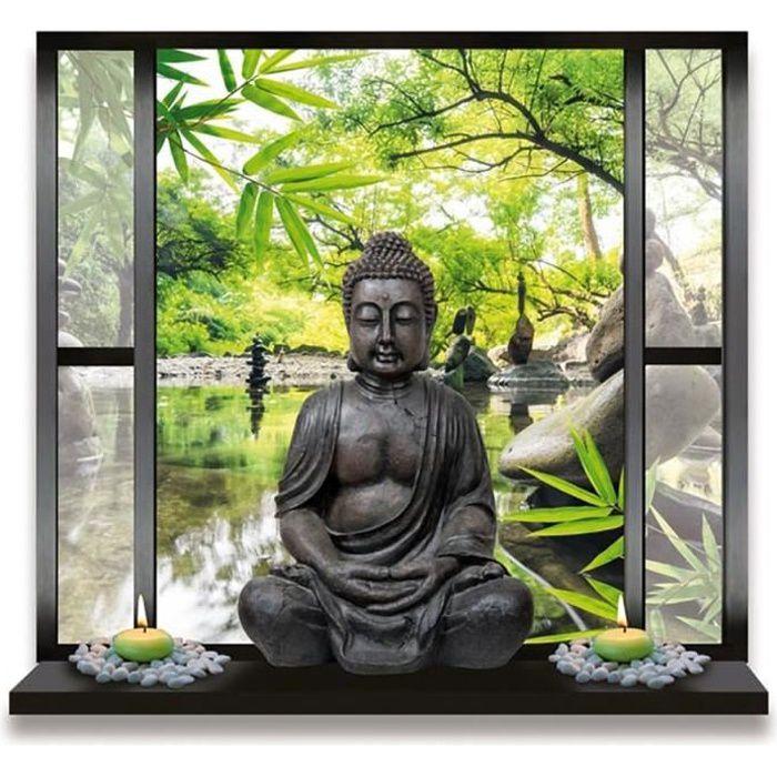 Sticker déco Bouddha Réf 550-16 dimensions