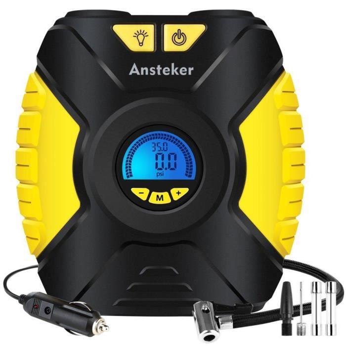 COMPRESSEUR 12V Ansteker Compresseur d'air Portatif 12V - Pompe de