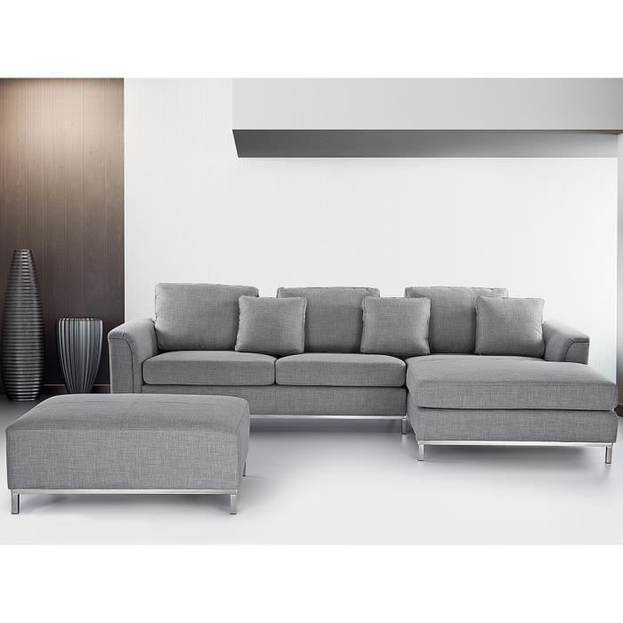 canap d 39 angle canap en tissu gris clair sofa oslo achat vente canap sofa divan. Black Bedroom Furniture Sets. Home Design Ideas