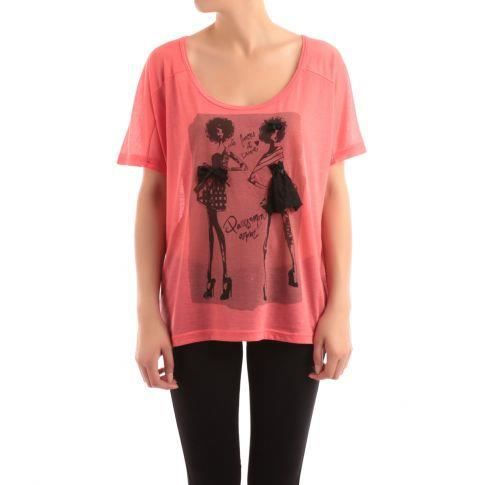 t shirt ample women couleur rouge corail taille rouge. Black Bedroom Furniture Sets. Home Design Ideas