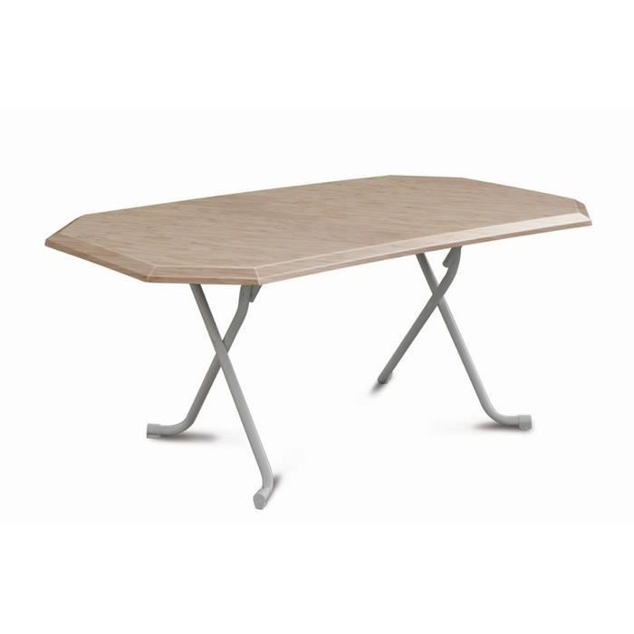Table pliante 6 personnes 165 x 95 x 71 cm cm d cor marbre for Table pliante murale 4 personnes