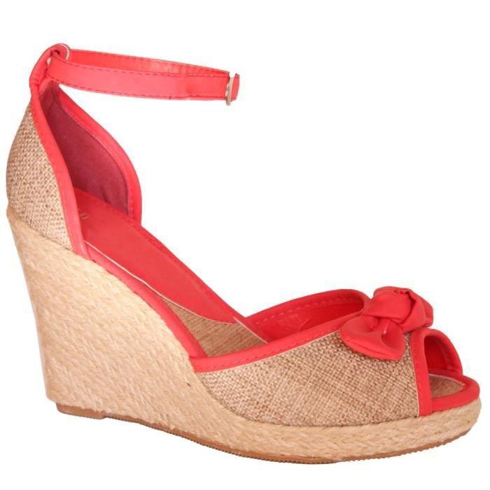 Chaussure Femme Compensee Modele Rouge Achat Vente Escarpin Bientot Le Black Friday Cdiscount