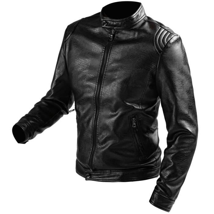 blouson homme cuir moto veste hiver parka marque luxe doublure casual jacket leather noir schott. Black Bedroom Furniture Sets. Home Design Ideas