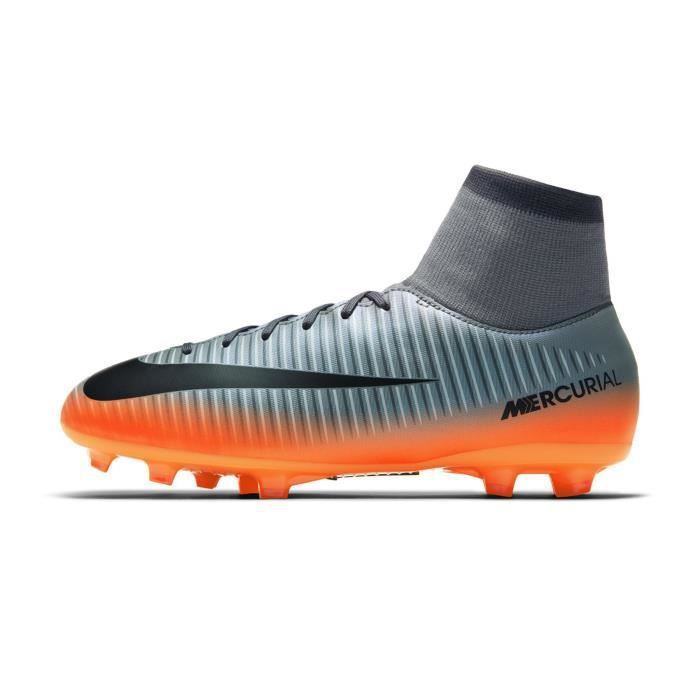 Chaussures football Nike Mercurial Victory VI CR7 DF FG Gris