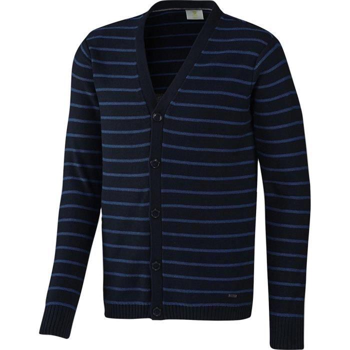 Cardigan à rayures bleu marine adidas Neo pour Homme Garçon Marine X Petite