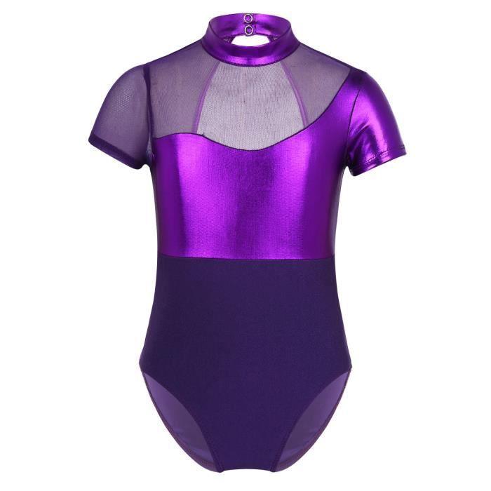 dPois Justaucorps Gymnastique Fille Manches Longues Justaucorps Danse Classique Fille V/êtement de Sport Yoga Body Ballet Combinaison Patinage Dancewear Bodysuit 3-14 Ans