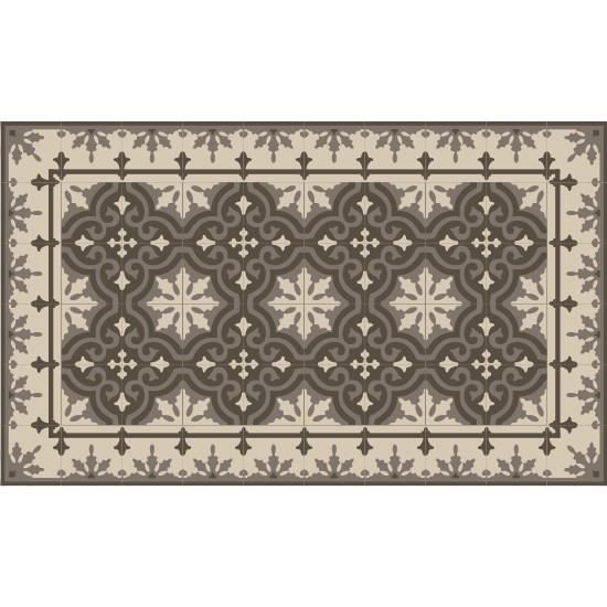 tapis vinyle 60x80cm imitation carreaux de ciment mounten smoked achat vente tapis cdiscount. Black Bedroom Furniture Sets. Home Design Ideas