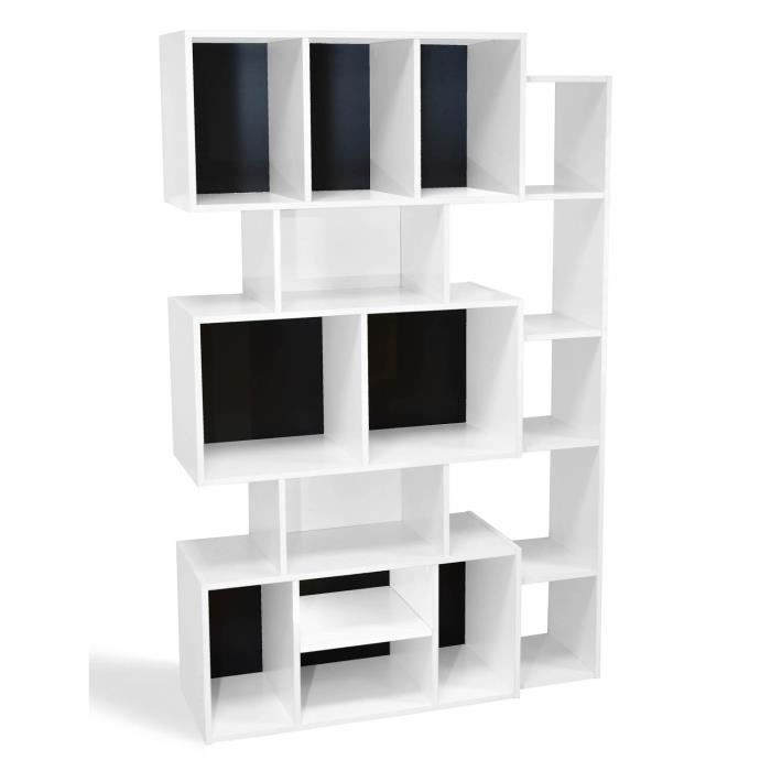 etagere design blanche achat vente etagere design blanche pas cher les soldes sur. Black Bedroom Furniture Sets. Home Design Ideas