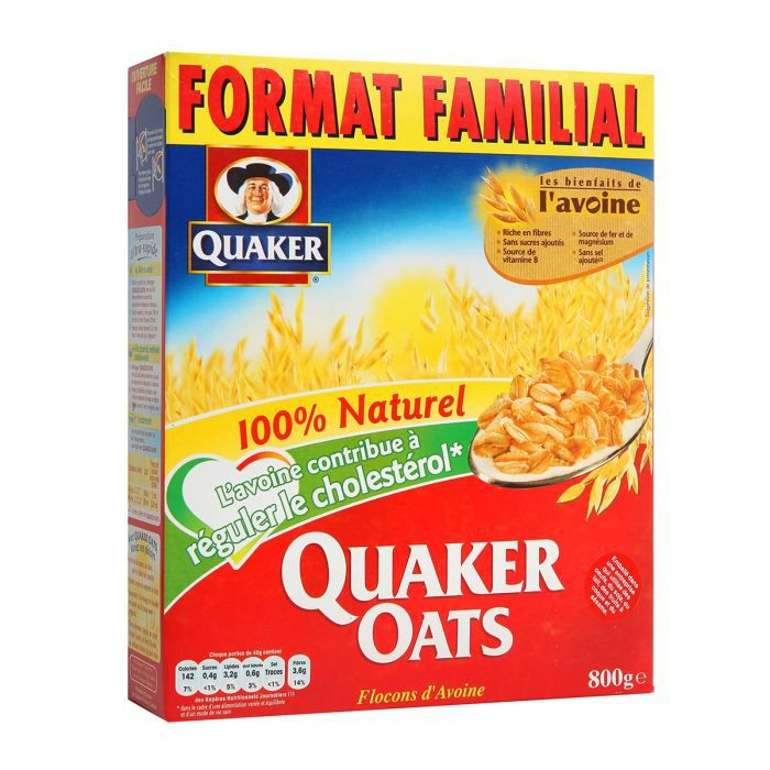 quaker oats c r ales flocons d 39 avoine 800g x1 achat. Black Bedroom Furniture Sets. Home Design Ideas