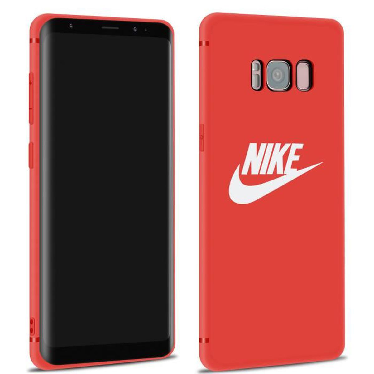 coque samsung s8 silicone rouge
