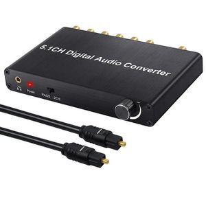 REPARTITEUR TV Convertisseur DAC Décodeur audio 5.1CH 192KHz Dolb