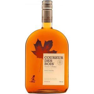 WHISKY BOURBON SCOTCH Whisky canadien au sirop d'érable Coureur des bois