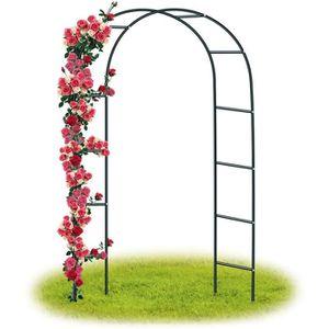 Arceau à rosiers Tuteur Colonne de Jardin Arche à rosiers avec banquette NEUF