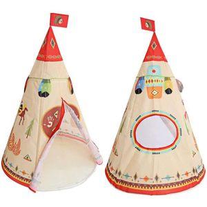 TENTE TUNNEL D'ACTIVITÉ Tente de Jeu Enfant Extérieur Rouge Indien Prince