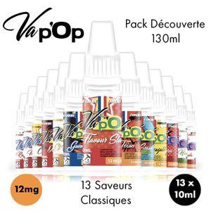 LIQUIDE ✕13 E-liquides Full Découverte-12mg/mL-10mL-Vap'Op