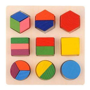 CUBE ÉVEIL Enfants d'apprentissage en bois pour bébé Geometry
