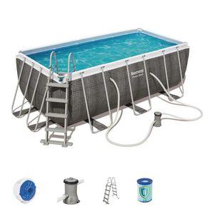 PISCINE BESTWAY Kit piscine rectangulaire Steel Frame Pool