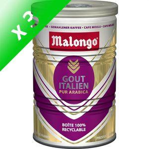 CAFÉ MALONGO / Goût Italien Café Moulu 250g (Lot de 3)