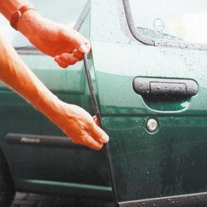 6/m moulure d/écorative en caoutchouc int/érieure ext/érieure Moulure de protection noire pour rebords de porte de voiture
