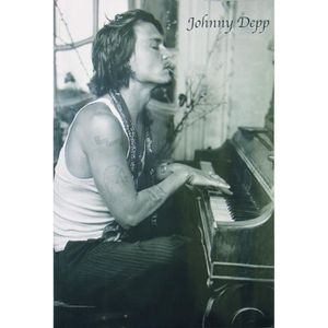 AFFICHE - POSTER Poster JOHNNY DEPP AU PIANO + 1 Powerstrips©, tesa