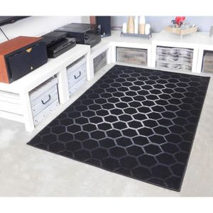 TAPIS Tapis salon HONEY noir DEBONSOL - 200x290cm