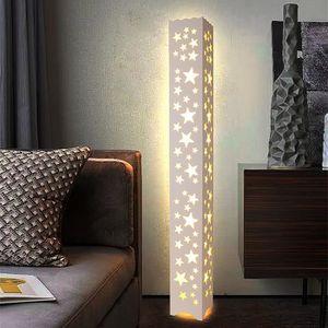LAMPADAIRE Lampadaire LED 18W Blanc Chaud Plastique PVC bois
