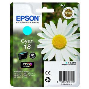 CARTOUCHE IMPRIMANTE Epson Pâquerette 18 T1802 Cartouche d'encre Cyan: