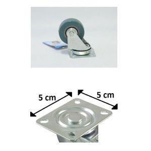 ROUE - ROULETTE Lot 4 Roulette Roue Pivotante Rotative 5cm 2