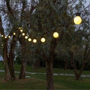 GUIRLANDE D'EXTÉRIEUR LOTTI Guirlande guinguette - Ampoules G50 LED - Bl