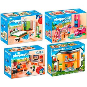 UNIVERS MINIATURE PLAYMOBIL City Life Pack Maison Moderne -  Lot de