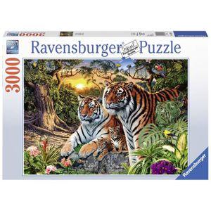 PUZZLE Puzzle 3000 pcs Tigres Cachés