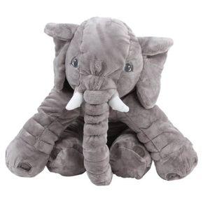 DOUDOU Grand sac à dos d'éléphant en peluche Coussin de c
